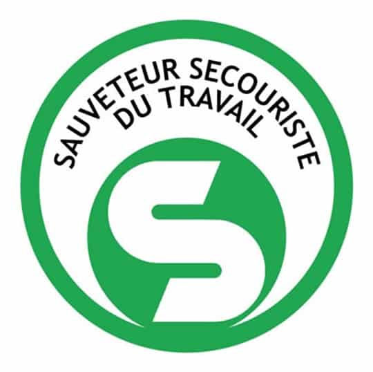 logo du sauveteur secouriste du travail