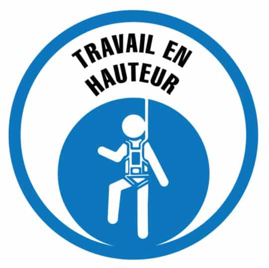 logo du travail en hauteur